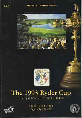 1993-30th RYDER CUP MATCHES GOLF OFFICIAL PROGRAMME-EUROPE V USA @BELFRY