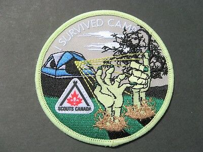 Boy Scouts Canada I Survived Camp Embroidered Patch Cubs