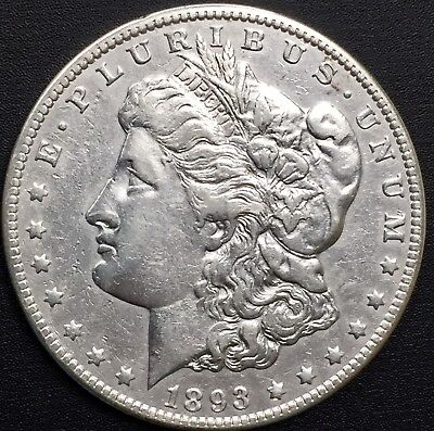 1893 O Morgan Silver Dollar Xf Details Coin Semi Key Date - Only 300,000 Minted