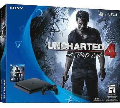 Sony PlayStation 4 Console PS4 Slim Uncharted 4: A Thief's End Bundle Game