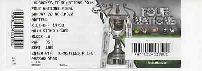 2016-Australia V New Zealand-Nz-@anfield-Four Nations Final Ticket International