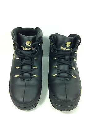 TIMBERLAND EURO SPRINT Hiker Mens Wheat Black Leather Ankle