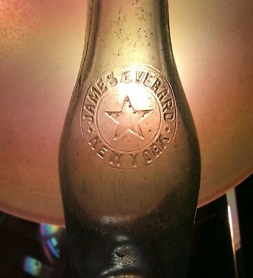 Early 1900s James Everard Brewing Co Beer Bottle Big Star Logo New York NY