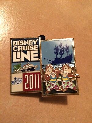 Disney Pin 82298 DCL Cruise Line Chip Dale Castaway Cay 2011  Logo