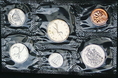 1991 Canada Prooflike PL set - 6 perfect coins in org packaging and certificate