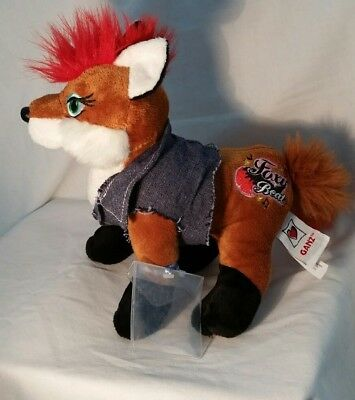 "Ganz Webkinz Plush Fox Rockerz, ""Foxy Beat"", No Code"