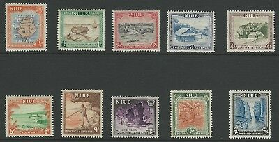 NIUE STAMPS - 1950 Pictorials, COMPLETE FULL SET, SG 113-122 (10 values), MNH