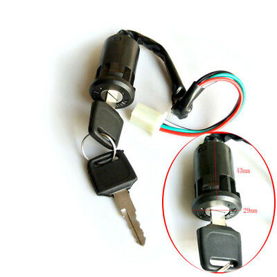 UNIVERSAL MOTORCYCLE IGNITION Barrel Key Switch 4 wire for
