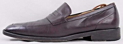 Men's Cole Haan Size 10 1/2 M Brown Leather Apron Toe Loafers
