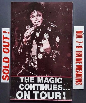 MICHAEL JACKSON Vintage Boxing Style Concert Poster 1988 The JACKSON 5 Very Rare