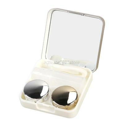 Portable Plastic Contact Lens Travel Container Holder Storage Soaking Box Case