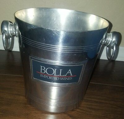 Bolla imported Wine from Italy Metal Ice Bucket Wine Cooler with handles