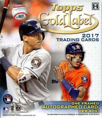 2017 Topps Gold Label Hobby Fact Sealed Baseball Box Framed Auto Per Bellinger?