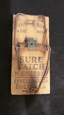Antique Wood Advertising MOUSE TRAP, ANCHOR BRAND CLOTHES WRINGERS, Erie, PA