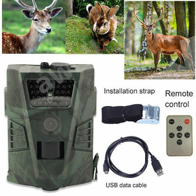 12MP IR LED HD Digital Wildlife Hunting Trail Camera Infrared Night Vision Scout