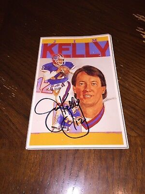 Jim Kelly Autographed 5x8 King's Sports Cards Guide  Print