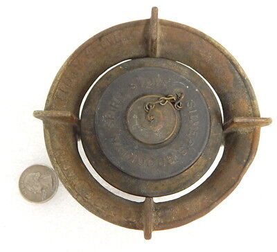 Antique Miniature Silver Brooklyn Spirit Cast Iron Camping Stove Army Boy Scout
