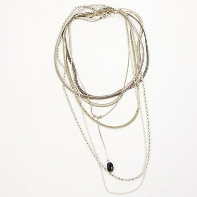 Sterling Silver Lot of 7 Herringbone Snake Chain Necklaces NOT SCRAP - 74g