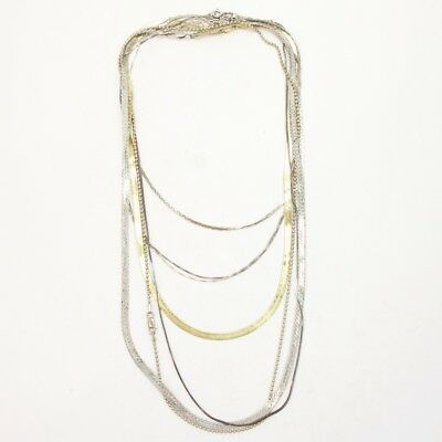 Sterling Silver Lot of 7 Herringbone Snake Chain Necklaces NOT SCRAP - 42g