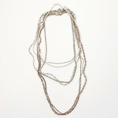 Sterling Silver Lot of 7 Herringbone Snake Chain Necklaces NOT SCRAP - 62g