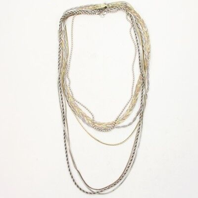 Sterling Silver Lot of 7 Herringbone Snake Chain Necklaces NOT SCRAP - 72g