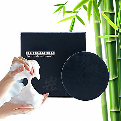 Unisex Clean Body Shower Treat Handmade Bamboo Charcoal Soap Body SKIN care
