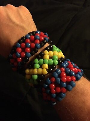 Homemade Custom Rave Kandi X Cuff!