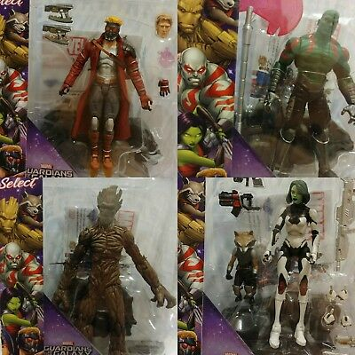 Marvel Select Guardians of the Galaxy Disney Store Exclusive Set Diamond select