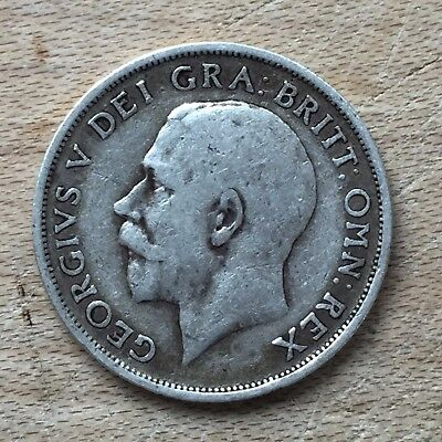 UK / Great Britain Shilling, Bob 1915, George V - Silver