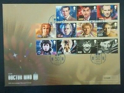 2013 Doctor Who 50th Anniv Limited Edition Commemorative Cover