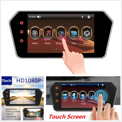"7"" HD Touch Screen Car Bluetooth FM MP5 Rear View Monitor For Car Backup Camera"