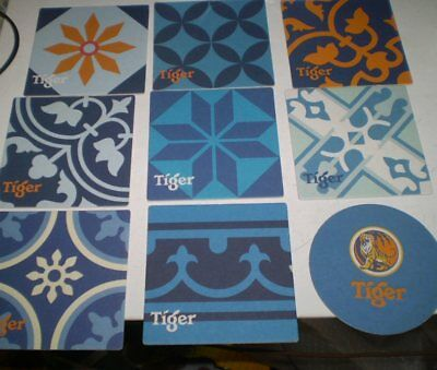 9 Different Sth Pacific  beer coasters -Tiger Beer