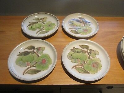 DENBY STONEWARE -  TROUBADOUR PATTERN  SIDE / TEA PLATES x 4