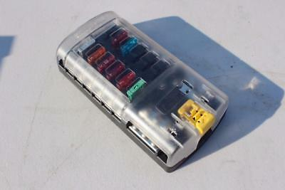 Blue Sea Systems ST Blade Fuse Block 12 Way/Circuits Negative Bus and Cover
