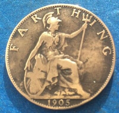 1905 King Edward Vii Farthing