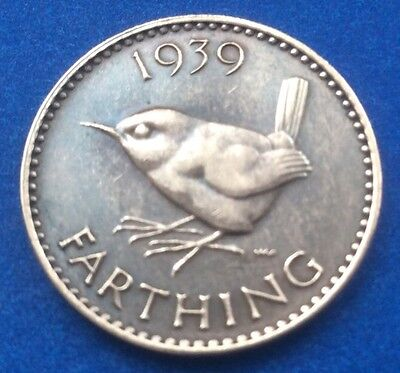 1939 King George Vi Farthing (Quarter Of A Penny) Coin