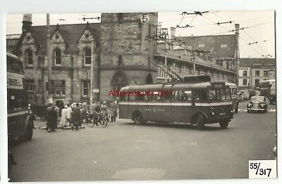 Darlington Trolley Bus Faverdale Real Photo 55/317 25.9
