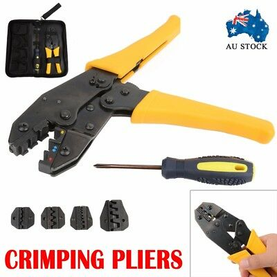 NEW Electrical Terminal Ratchet Crimping Crimper Auto Electrician Tool Kit Sets