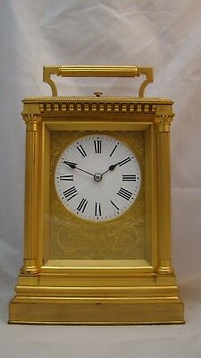 Fully Restored Petite Sonnerie Carriage Clock by Alfred Baveux & Dehume