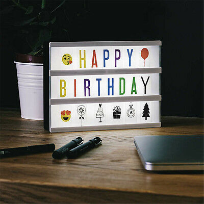 A4 Cinematic Cinema Light Up Letter Box Sign Lightbox DIY Message Board Party