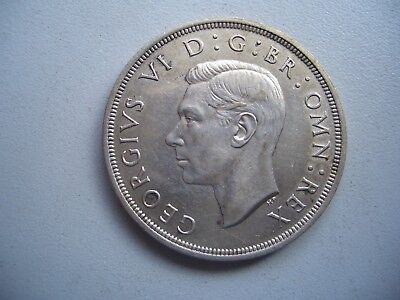 George V1 Silver Crown 1937 , Good Very fine  [3]