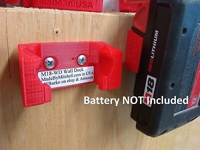 M18 Wall Dock, Mount, Store Milwaukee M18 Battery, $5.99 shipped, 1 Piece
