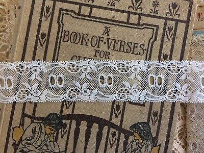 Antique French Lace ~ White ~ 30 mm wide  ~ 100% Cotton ~ 1950s  BTM