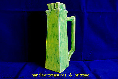 Vintage Art Deco H. J. Wood / E Radford 366 Vase or Jug Green