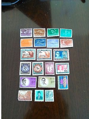 21 Mint Stamps Of Indonesia All Different