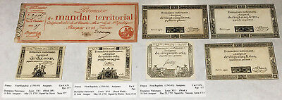7 VERY OLD FRENCH NOTES (FROM LATE 1700's) WELL PRESERVED MUST SEE > NO RESERVE