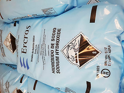Caustic Soda/Sodium Hydroxide 25kg sack including 48 hour freight.UK ONLY..