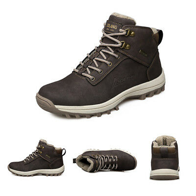 Mens Winter Snow Boots Outdoor Climbing Sneaker Super Warm Lining Non-Slip Shoes