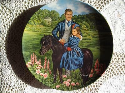 Edwin Knowles Gone With The Wind Plate Bonnie And Rhett Raymond Kursar (1985)