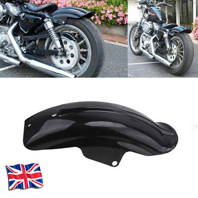 Black Rear Fender Mudguard Plastic For Harley Sportster Bobber Chopper -UK